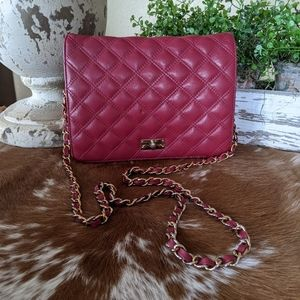 Quilted Leather Talbots Chain Strap Crossbody